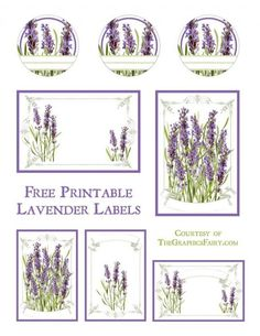 Lavender Labels Printable