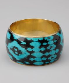Take a look at the ZAD Blue Ikat Bangle on #zulily today!