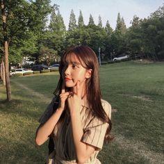 Mode Ulzzang, Ulzzang Korean Girl, Cute Korean Girl, Cute Asian Girls, Korean Beauty Girls, Medium Hair Styles, Long Hair Styles, Korean Fashion Summer, Uzzlang Girl