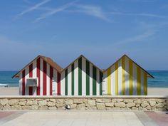 #beach #cabins #Spain #colours