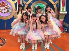 When Hina Hiratsuka (2nd from left in back row) and some Fuwa Fuwa members appeared in the TV show. #girl #japan RT @hiratsuka_hina こんばんはんぺん 今日の写真だよ~(*´▽`*) また出れるかな? これからレッスンだ~! いっそげ〜 pic.twitter.com/ILWNefVfaS