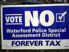 Do Not believe the scare tactic. The Police Dept. already gets 50% of your Property Tax Bill