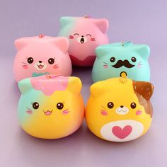 Puni Maru Marshmallow Kitty Squishy Charm 💖 Adopt these marshmallow kitty squishies from Puni Maru and shower them with love & squishes! Silly Squishies, Animal Squishies, Kawaii Gifts, Kawaii Things, Japanese Animals, Kawaii Stationery, Cute Charms, Fidget Toys, Mason Jar Crafts