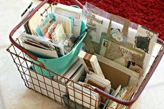 WIP Blog: Project Life Organization   right now I am organizing all my Project Left in one storage basket and then my Heidi Swapp in another..and by designers I have many favorite ..mary