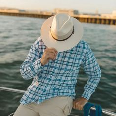 """The Florence Straw Hat is a top seller as it features the classic Panama hat aesthetic with lightweight construction, ventilation, and maximum comfortability. The 3 ½"""" brim, 4"""" crown, patterned leather hatband, and optional chin strap make it the perfect protective accessory for an outdoor adventure, day on the golf course, or evening spent lounging in a hammock watching the sunset. Wear it, love it, and know you'll never leave it. #hats #ahm #strawhats #americanhatmakers Outdoor Hats, Hats Online, Selling Online, Sun Hats, Hammock, Florence, Panama Hat, Golf, Construction"""