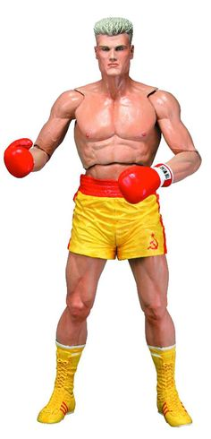 Figura Rocky IV. Ivan Drago, calzón amarillo 18cm. NECA