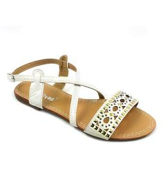 Love this White Studded Cutout Sandal on #zulily! #zulilyfinds