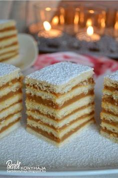 Hungarian Cake, Hungarian Recipes, Hungarian Food, Ital Food, Party Finger Foods, Vanilla Cake, Sweet Treats, Food And Drink, Favorite Recipes