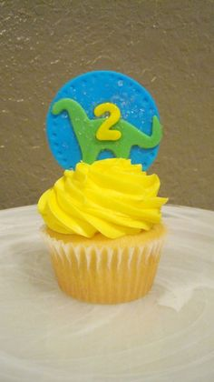 Dinosaur Cupcake or Cookie Topper by FancyCakeArt on Etsy, $10.00