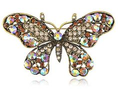 Gold Tone Victorian Inspired Topaz Brown Crystal Rhinestone Butterfly Brooch Pin Alilang,http://www.amazon.com/dp/B0052YLQQQ/ref=cm_sw_r_pi_dp_nV09rb167MMBVE0K
