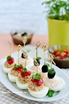 Finger Food Appetizers, Appetizers For Party, Appetizer Recipes, Fast Healthy Meals, Healthy Eating Recipes, Cooking Recipes, Good Food, Yummy Food, Tasty