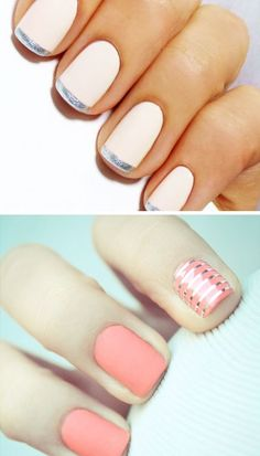 Unique and Lovely Bridal Manicure