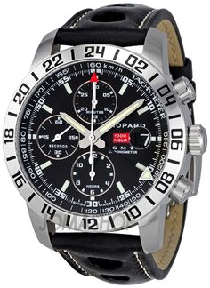Chopard Mille Miglia GMT Steel Black Chronograph Mens Watch 168992-3001