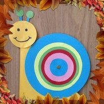 Een slak in de herfst ~ www.knutselboom.nl
