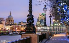 Stock Photo : St Paul's from the Southbank, London, England
