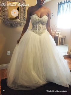 Sexy Beaded Corset Wedding Dress VERY by The Faded Sunflower. Our gowns are exquisite designer replicas.