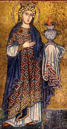 Roma, Santa Maria in Trastevere. (Facade, 13th century mosaic)