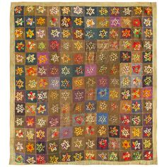 Antique American Quilt | From a unique collection of antique and modern quilts at http://www.1stdibs.com/furniture/folk-art/quilts/