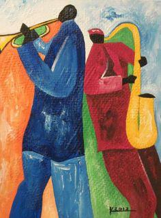 Original Acrylic Jazz Art Paintings by Ken Joslin: July 2012