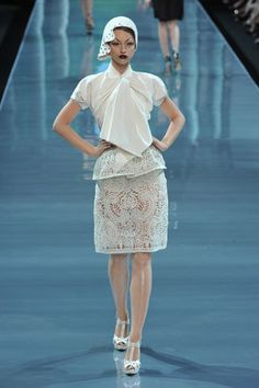 Christian Dior Fall 2008 Couture Fashion Show - Marcelina Sowa