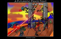 Pirate Fight- The Art of Stephen Guptill