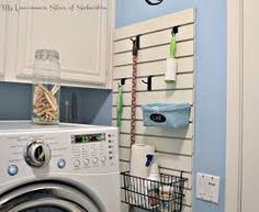 You Need To Know About Garage Laundry Area Diy Spaces 39 - sitihome Garage Laundry, Laundry Room Doors, Laundry Room Cabinets, Laundry Decor, Basement Laundry, Laundry Area, Laundry Closet, Laundry Room Organization, Small Laundry