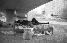 Homeless near Watergate Hotel, Washington D.C. (1989)