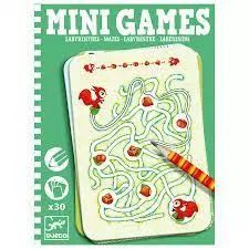 This pack of Mini Games Mazes from Djeco has 30 cards and a pencil. Each card features a maze for you to work your way out of. Wooden Dice, Wooden Boxes, Kirigami, Sudoku, Travel Toys, 9 Year Olds, Mini Games, Play Doh, Cards
