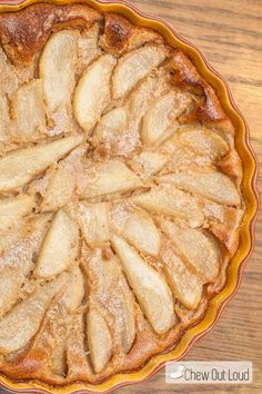 Julia Child's Pear Clafoutis. Delicious Custard Center and Puffy Soufflé Top. Impressive yet simple.