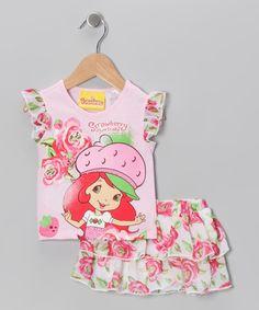 Pink Strawberry Rose Tee & Skort - Infant & Toddler   Daily deals for moms, babies and kids