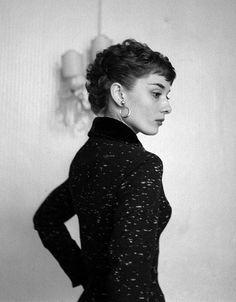 Portrait of Audrey Hepburn, 1950s (via)
