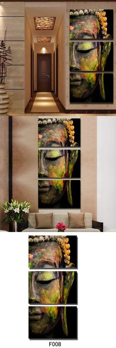 Wall Art DIY Canvas Buddha Living Room Frameless Prints Oil Painting Home Posters Gift Decor Bedroom Office Buddha Canvas, Buddha Wall Art, Buddha Decor, Buddha Painting, Buddha Head, Feng Shui, Buddha Meditation, Meditation Quotes, Meditation Space