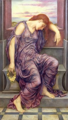 Pre Raphaelite Art: In Memoriam, Evelyn de Morgan, 1898