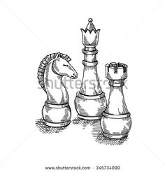 Chess Board Drawing Stock Photos, Images, & Pictures | Shutterstock