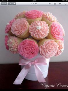 A delicious cupcake posey.
