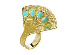 Fan ring by Hélène Courtaigne Delalande