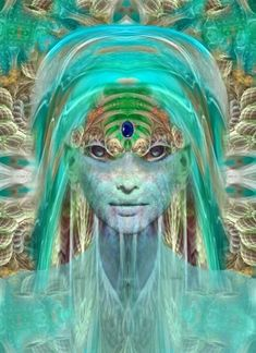 ✨Pleiadian✨ We are nearby by Bill Brouard: She really looks like the woman I saw in my meditation Psy Art, Aliens And Ufos, Spirited Art, Sacred Feminine, Alien Art, Visionary Art, Psychedelic Art, Sacred Geometry, Amazing Art