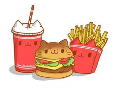 Cute animal drawings kawaii, cute food drawings, cartoon drawings of Chibi Kawaii, Kawaii Cat, Anime Kawaii, Cute Food Drawings, Kawaii Drawings, Cartoon Drawings, Cute Doodles, Food Illustrations, Animal Drawings