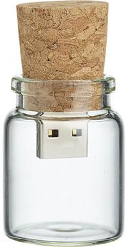 CB2 Message In A Bottle Flash Drive on shopstyle.com | bottle your thoughts. Hi-tech take on old-school communication saves your files and photos in a flash and stores them in mini glass bottle with cork top. Label and date as a modern time capsule for gifting.