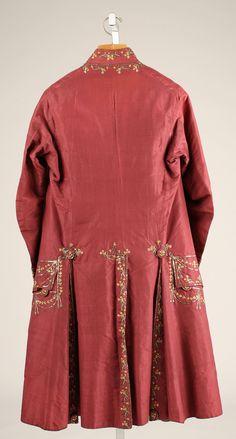 Suit Date: 1775–80 Culture: French Medium: silk, metallic The Metropolitan Museum of Art