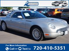 2004 *Ford*  *Thunderbird* *Base*  69k miles $16,000 69782 miles 720-410-5351 Transmission: Automatic  #Ford #Thunderbird #used #cars #ArapahoeHyundai #Centennial #CO #tapcars