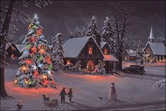 Biography: Jesse Barnes, Most young boys dream of growing up to be firemen or policemen. Jesse Barnes wanted to become a famous artist. Christmas Scenery, Christmas Past, Cozy Christmas, Country Christmas, Christmas Pictures, Christmas Lights, Vintage Christmas, Christmas Holidays, Italian Christmas