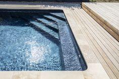 Pool Steps Inground, Swimming Pool Steps, Swimming Pool Designs, Wood Gardens, Spray Park, Pool Remodel, Family Pool, Steps Design, Pool Construction