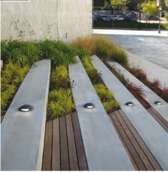 Nice steps/planting at Public Media Commons, St Louis by DLAND studio Brooklyn