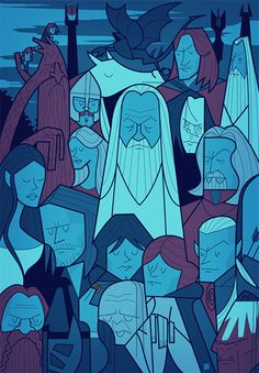 Posters Of 'Lord Of The Rings', Famous Movies Get Brilliant Cartoon Makeover - DesignTAXI.com