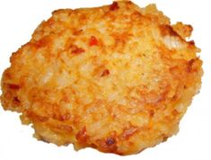 Rice Fritters - Easy Way to Use up Leftover Rice - DId this with risotto using 1c risotto, 1 egg, and 1/4t of sea salt.
