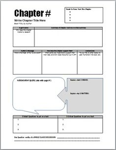 Non-fiction - Chapter Study Guides - for ANY novel unit to replace or support chapter quizzes. Students write summaries, test questions, discussion questions, famous quotes, and more! For secondary English classes Reading Lessons, Reading Activities, Teaching Reading, Learning, Math Lessons, Teaching Literature, Middle School Reading, Middle School English, English Classroom