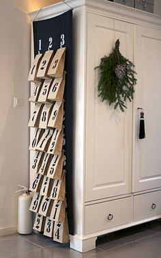 Cute advent calendar idea for Christmas.