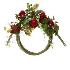 Geranium and Garden Hose Wreath