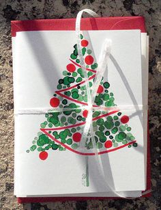 Red Christmas Card Set by Jellybeans1, via Flickr